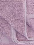 Летняя Махровая Бамбуковая Простынь Покрывало 200*220 см Евро Размер Однотонная Фиолетовая Турция Sofia Soft, фото 6