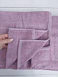 Летняя Махровая Бамбуковая Простынь Покрывало 200*220 см Евро Размер Однотонная Фиолетовая Турция Sofia Soft, фото 7