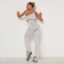 Жіночі спортивний костюм (топ+штани) для занять спортом, фітнесом, йогою