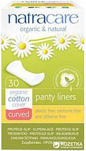 Ежедневные прокладки  Natracare Panty Liners Curved из органического хлопка  Натуркеа Заокругленные 30 шт
