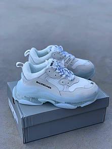 Мужские кроссовки Balenciaga Triple S Clear Sole white