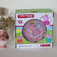 Детская посуда (3 предмета) с мультяшными героями Свинка Пеппа