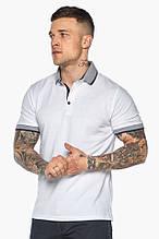Модна біла футболка поло чоловіча модель - 5425, р-ри 54 (XXL)56 (3XL)