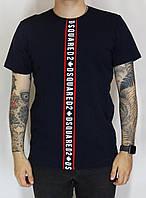 Темно-синяя футболка в стиле DSQ