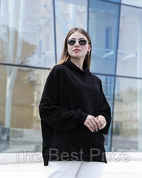Худи Женское Oversize Slit Intruder Brand черное кофта толстовка черная