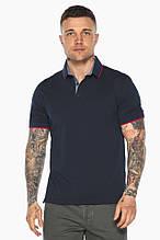 Оригінальна темно-синя футболка поло чоловіча модель 5324