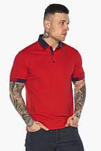 Комфортная футболка поло мужская красная модель 5960,52 (XL) 54 (XXL)