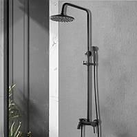 Душевой гарнитур настенный WanFan душевая система стационарный душ Черный