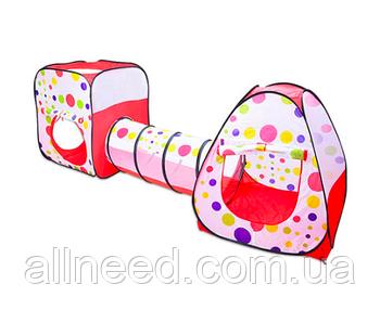 Детская Палатка с тоннелем для девочки 252х85х96 см
