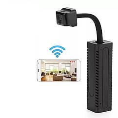 Компактная умная мини IP камера D20 с поддержкой Wi Fi и аккумулятором. V380 Pro