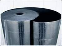 Синтетический каучук ламинированный алюминиевой фольгой Алюфом R 6 мм