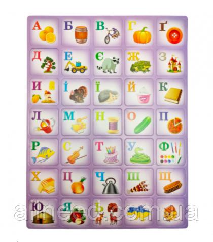"""Детский плакат обучающий """"Азбука"""" на укр. языке (фиолетовый)"""