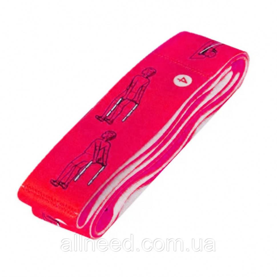 Еспандер (еластична стрічка) для розтяжки BT-SG-0001 95*4 см (Рожевий)