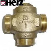 Трехходовой клапан Herz DN25 c возможностью отключения байпаса