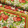 Рушникова тканина вафельна полунички, ш. 50 см