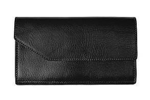 Портмоне Grande Pelle Elegante 200х105х20 мм глянцева шкіра чорний