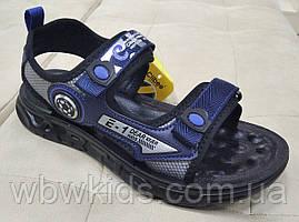 Босоножки детские Clibee Z-861 на мальчика черно-синие 36