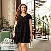 Платье с с оборками черный