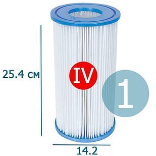 Сменный картридж для фильтр насоса Bestway 58095 тип «IV» 1 шт, 25.4 х 14.2 см