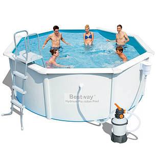 Сборный бассейн Bestway 56566 (56284), Hydrium Poseidon Pool  300 х 120 см (2006 л/ч (песочный), лестница,