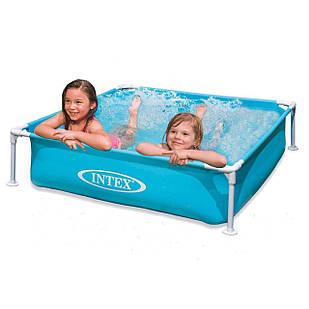 Каркасный бассейн Intex 57173, 122 х 122 х 30 см, голубой