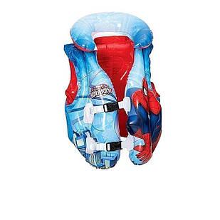 Детский надувной жилет Bestway 98014 «Спайдер Мен, Человек-Паук», 51 х 46 см