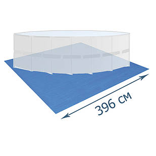 Подстилка для бассейна Bestway 58002, 396 х 396 см, квадратная