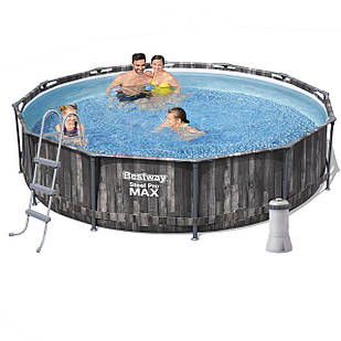 Каркасный бассейн Bestway 5614X - 5, 366 х 100 см (3 785 л/ч, лестница, тент, подстилка)