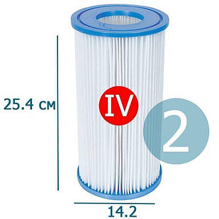 Сменный картридж для фильтр насоса Bestway 58095 тип «IV» 2 шт, 25.4 х 14.2 см