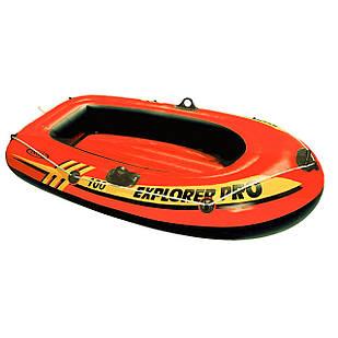 Одноместная надувная лодка Intex 58355 Explorer PRO 100, 160 х 94 см. 3-х камерная