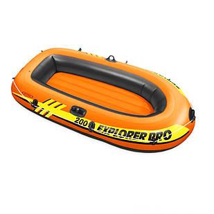 Полутораместная надувная лодка Intex 58356 Explorer PRO 200, 196 х 102 см. 3-х камерная
