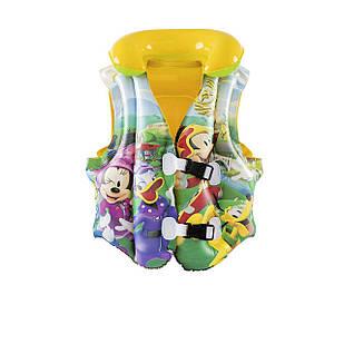 Детский надувной жилет Bestway 91030 «Микки Маус» 51 х 46 см, желтый