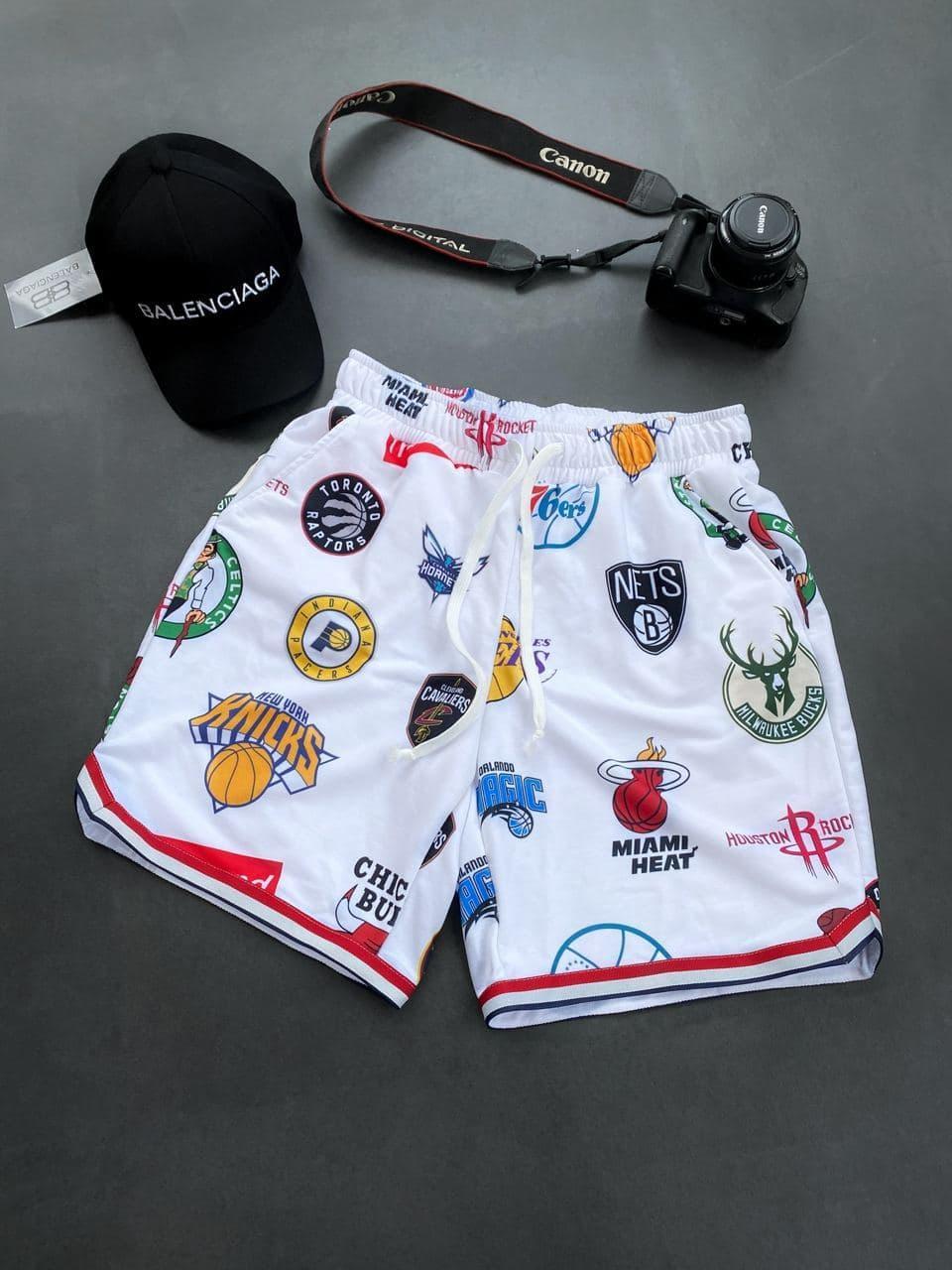 😜 Шорти - Чоловічі шорти / чоловічі шорти на літо спортивні білі з емблемами