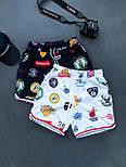 😜 Шорти - Чоловічі шорти / чоловічі шорти на літо спортивні білі з емблемами, фото 2