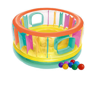 Надувной батут Bestway 52262-1 «Bounce Jam Bouncer», 180 х 86 см, с шариками 10 шт