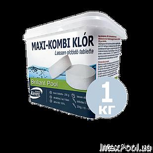 Таблетки для бассейна MAX «Комби хлор 3 в 1» Kerex 80002, 1 кг (Венгрия)
