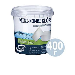 Таблетки для бассейна  MINI «Комби хлор 3 в 1» Kerex 80008, 400 г (Венгрия)