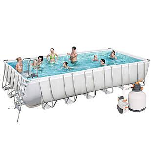 Каркасный бассейн Bestway 56475, 732 х 366 х 132 см (5 678 л/ч, дозатор, лестница, тент)
