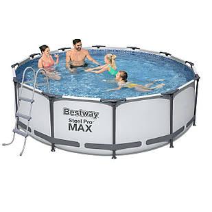 Каркасный бассейн Bestway 56418 - 1, 366 х 100 см (лестница)