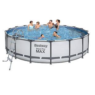 Каркасный бассейн Bestway 56462 - 1, 549 x 122 см (лестница, тент, подстилка)