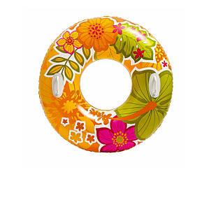 Надувной круг Intex 58263, с ручками, 97 см, оранжевый