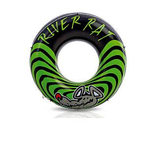 Надувной круг Intex 68209 «Речная крыса», черно-зеленый, 122 см