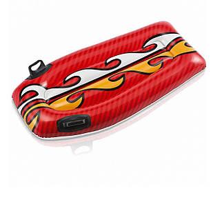 Детская доска для катания Intex 58165 «Серфинг», 112 х 62 см, красный