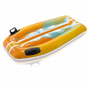 Детская доска для катания Intex 58165 «Серфинг», 112 х 62 см, оранжевый