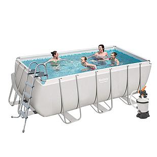 Каркасный бассейн Bestway 56457, 412 х 201 х 122 см (2 006 л/ч, дозатор, лестница)
