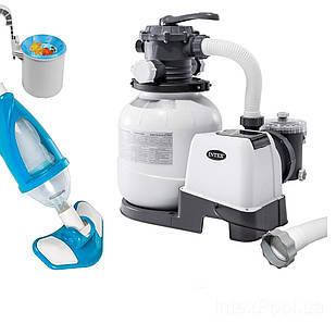 Оборудование для бассейна «Эксклюзив База» Intex 26646-4 (6 000 л/ч, пылесос, скиммер, шланг)