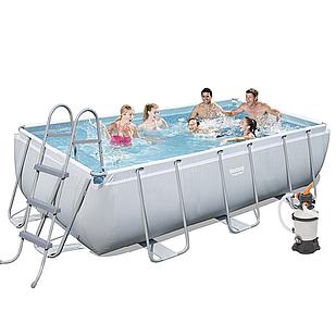 Каркасный бассейн Bestway 56442, 404 х 201 х 100 см (2 006 л/ч, дозатор, лестница)