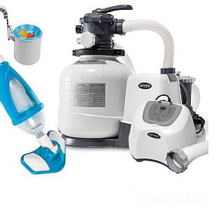 Оборудование для бассейна «Эксклюзив MAX» Intex 26648-5 (10 000 л/ч, 12 г/ч, скиммер, пылесос, шланг)