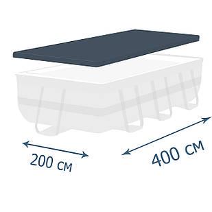 Тент - чехол для каркасного бассейна Intex 28037, 400 х 200 см (фактический размер тента 388 х 189 см)