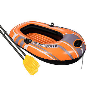 Одноместная надувная лодка Bestway \ Kondor 1000 Set  145 х 84 см (весла). 2-х камерная